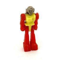 Diaclone Real & Robo: Car Robot: City R (silver) - Pilot (type 2, yellow w/ red)