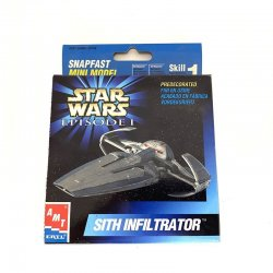 Star Wars: Episode 1 - Amt Ertl Snap Fast Mini Model Sith Infiltrator