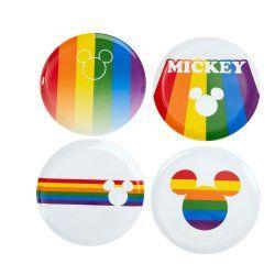 Disney Plates 4-Pack Mickey Rainbow
