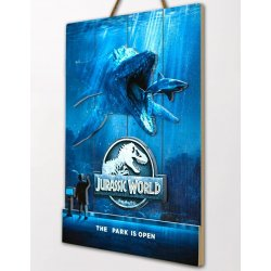 Jurassic World WoodArts 3D Wooden Wall Art Mossasaurus 30 x 40 cm