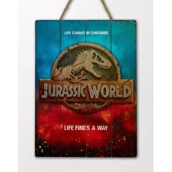 Jurassic World WoodArts 3D Wooden Wall Art Logo 30 x 40 cm