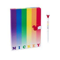 Disney Notebook with Pen Mickey Rainbow