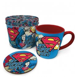 Superman Mug with Coaster My Super Hero